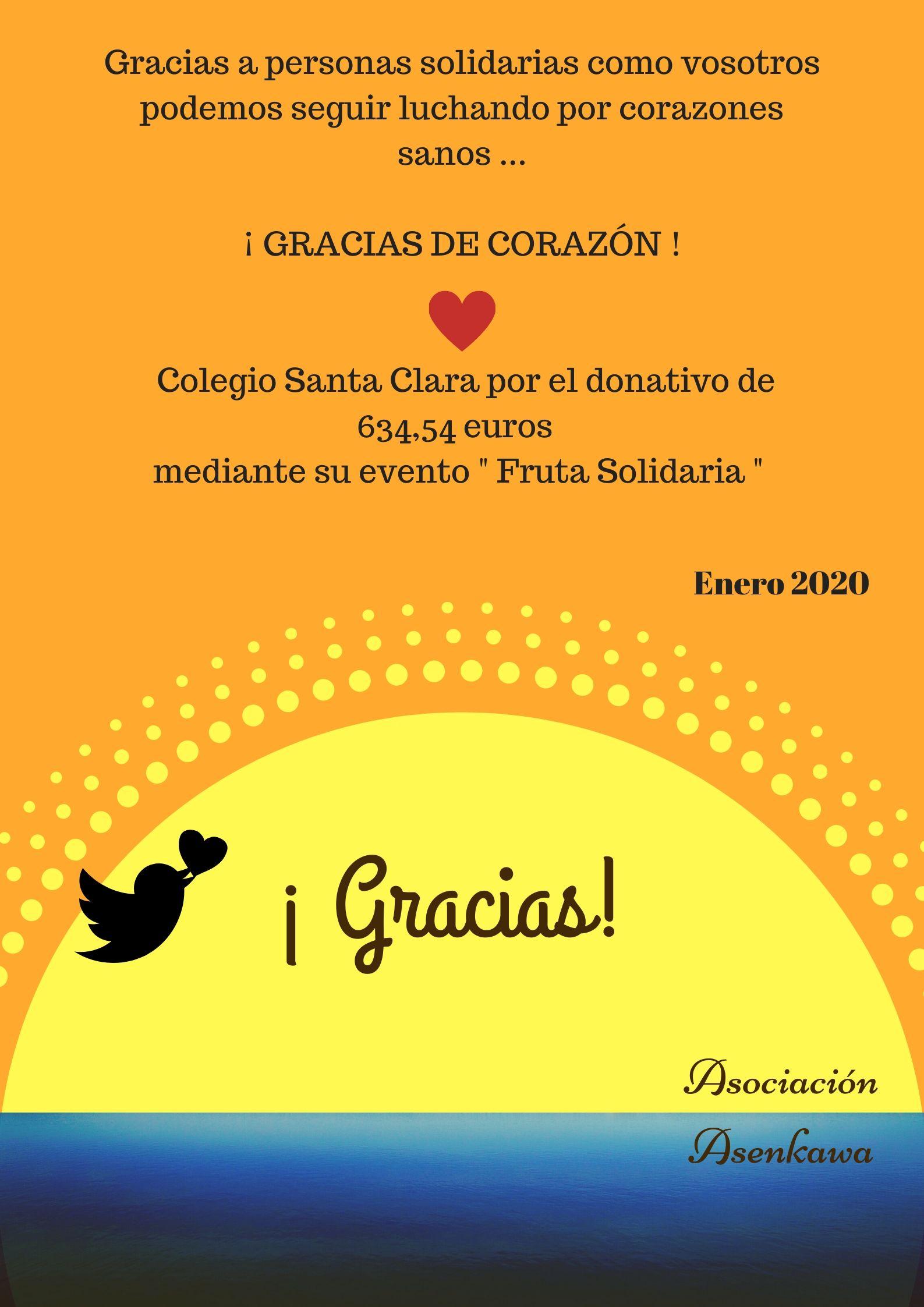 ¡ Gracias! Colegio Santa Clara